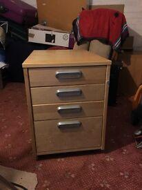 Ikea drawer units x 2