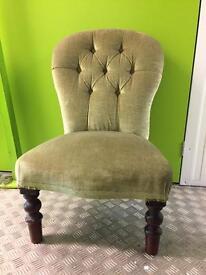 Green Velvet Nursing Chair