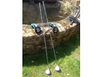 Golf Clubs - Ladies Calloway 3 & 5 Woods & covers