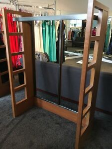 Wood and Metal clothing rack