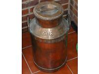 Authentic Red Copper Milk Churn