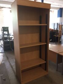 Beech 3 shelf bookcase