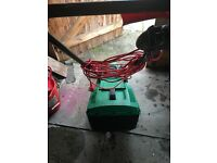 Qualcast lawnmower and tools
