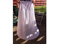 One hoop wedding dress underskirt bridal white size 8-14