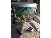 65l fish tank Aqua start 500 fish tank full set up with 2 light heater pump gravel ornament all work