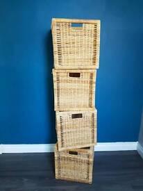 4 IKEA storage baskets (BRANNÄS) for KALLAX