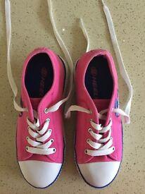 Heelys x2 pink or fuchsia/navy U.K. Size 3 Eur 35