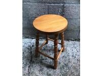 Small pine stool FREE DELIVERY PLYMOUTH AREA