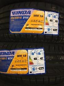 205/55/16 91W Wanda pair of 2 brand new tyres