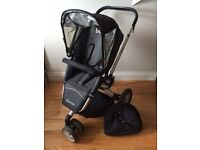 Quinny Buzz Pram and with basket and clip on bag