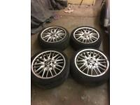 Bmw mv1 alloys with mint tyres age related marks could do with a refurb