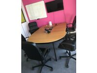 IKEA Oak/Black Bekant Conference Table Excellent Condition (USED) Brighton
