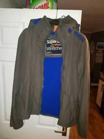 Mens Superdry Windcheater Coat XL