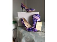 Pretty Laura Ashley shoes and matching clutch bag