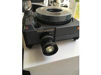 projector 35mm slide Kodak Ektapro Schneider lens 80 carousel remote control and extension lead