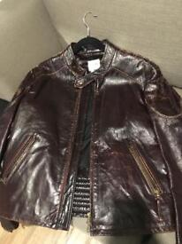 """Nearly New, """"Lot 78"""" Distressed Leather jacket"""