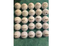 25 mixed golf balls