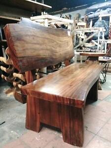 Banc Double Bois Suar Massif - Indonésie // Double Bench Solid Suar Wood -Indonesia *NEW