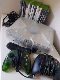 Xbox console + 2 controllers + Games