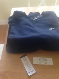 New Lacoste navy sweatshirt