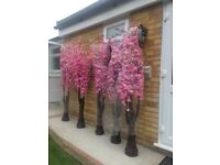 Artificial cherry blossom trees (5) perfect for wedding, garden, home or shop.