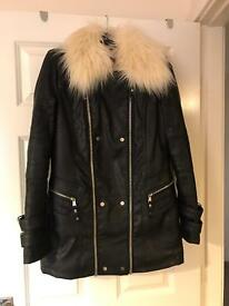 Size 10-12 leather river island coat £30 OFFERS WELCOME