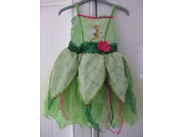 DISNEY TINKERBELL DRESS & WINGS - IMMACULATE CONDITION - Age 5-6
