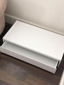 White gloss low table with draw