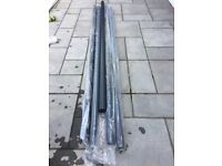 Brand new aluminium down pipe 5 x 3 m lengths colour grey RAL 7016