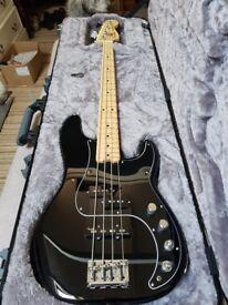 Fender American Elite Precision Bass Guitar, Black