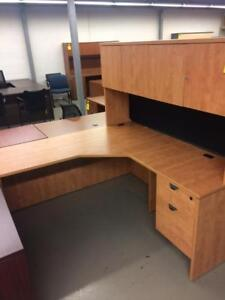 Office Furniture Used L-Shape Desk, with Storage