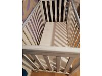 Cot bed and mattress in good condition