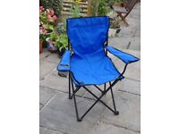 Picnic chair, foldable with bag