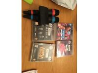 PlayStation PS3 Singstar games plus accessories.,