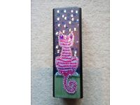 Glasses/spectacle case. Cat on wall style. REDUCED