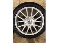 Vw golf mk 5 gt 17inch alloy wheels x3