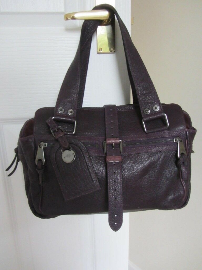 Genuine Mulberry Aubergine refined leather  Mabel  handbag tote excellent  condition. Somerset £200.00 6846597405e3f