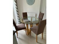 STUNNING DINING TABLE & 4 CHAIRS (JOHN LEWIS)