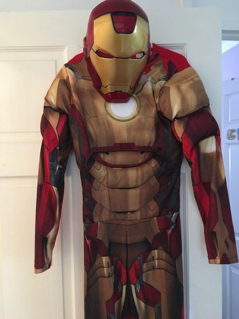 Boys aged 9-10 Disney Iron Man costume & mask