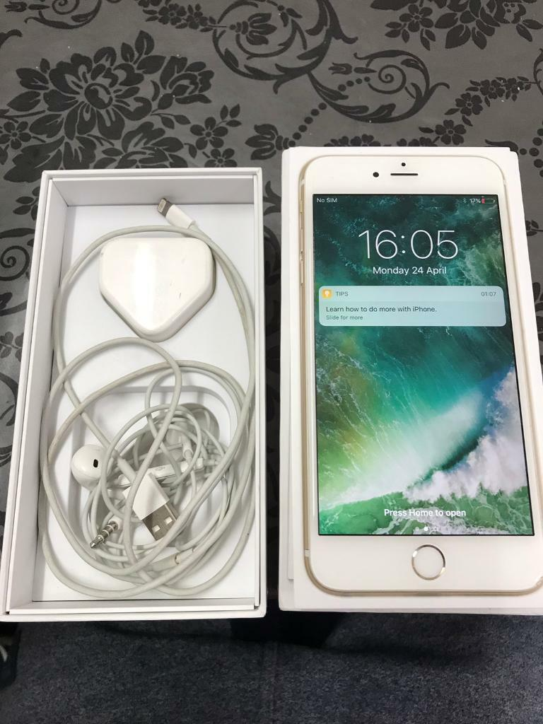 IPhone 6 Plus 16 GB Mint Gold Request To Unlocked From O2 Will Be Unlock In 2 3 Daysin East Ham, LondonGumtree - IPhone 6 Plus 16 GB Mint Gold Request To Unlocked From O2 Will Be Unlock In 2 3 Days Perfect mobile with good condition no scratch on screen. Very good battery timing Comes with charger & box headphoneMint conditionGood for giftThanks for looking