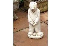Solid stone balls man garden statue