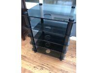 Hifi Unit Black smoked Glass Optium Prelude 5 tier.