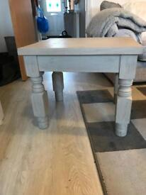 Vintage coffee table in light grey