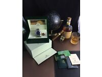 Silver Rolex Daytona With Blue Face Comes Rolex Bagged and Boxed With Paperwork