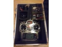 Spectrum dx8 rc transmitter and 3 receivers