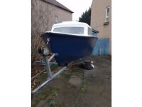 15 foot boat trailer and engine