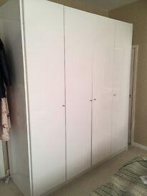 Modern high gloss 4 door wardrobe