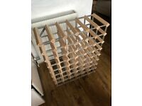 Large Wine Rack - Wood and Metal 54 Bottles - Free Delivery