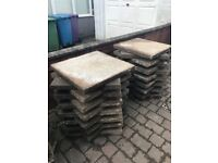 *FREE* pea stone garden slabs 2ft X 2ft Uplift only