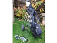 Golf clubs with trolley